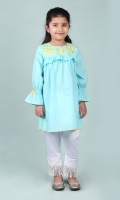 Aqua Embroided Eastern Girl Tunic