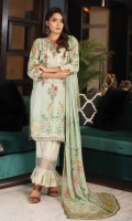 3pc embroidered lawn chikankari suit