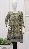 Elegant angrakha kittel. Dori on neck. Three quarter sleeves. Short length