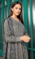 Printed Cambric Shirt Fabric Printed Chiffon Dupatta (2.5 Meter)