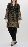 Shirt with embellished placket Full sleeves with embroidered cuffs