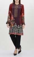 Silk shirt with embellished placket Flared bell chiffon sleeves