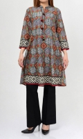 Printed shirt with tassels on placket  Full sleeves