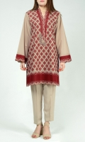 Full embroidered shirt  Embellished placket with pearls & sequins Full sleeves with embroidered cuffs