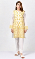 Shirt with embroidered front Pearls on placket Full sleeves with embroidered cuffs Embroidery finished with sequins
