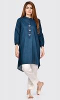 Basic shirt with metallic buttons and crystals on placket Full sleeves with gathers and elasticizes cuffs