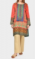 Shirt with embroidered neckline Placket embellished with crystals and stones Full sleeves