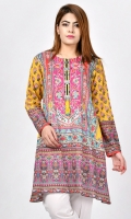 Printed shirt with metallic buttons on placket Full sleeves