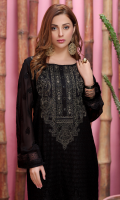 1 Piece Embroidered Front 1 Piece Embroidered Sleeves 1 Piece Neckline Embroidery Motif Patch 1 Piece Embroidered Front and Back Border 1 Piece Embroidered Back