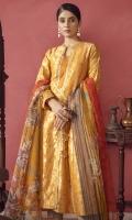 Jacquard Shirt Fabric Printed Rajjo Net Dupatta (2.5 Meter)