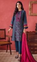 Printed Slub Khaddar Shirt Fabric Printed Poly Wool Shawl (2.5 Meter)