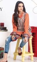 Lawn Digital printed angrakha embellished with dori tassal.