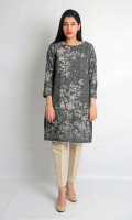 STRAIGHT EMBROIDERED SHIRT BOAT NECK STRAIGHT SLEEVES STRAIGHT HEIM WITH ZARI LACE