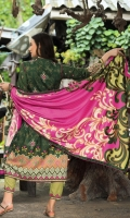 Dupatta : Printed	2.5 Meters Shirt Front :	Embroidered Printed	1.25 meters Shirt Back :	Printed	1.25 meters Sleeves : Embroidered Printed	1 Pair Trouser: Dyed	2.5 Meters