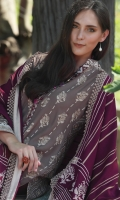Dupatta : Printed2.5 Meters Shirt Front :Printed1.25 meters Shirt Back :Printed1.25 meters Sleeves :Printed1 Pair Trouser: Dyed2.5 Meters Border :Embroidered1 Piece