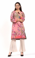 PRINTED SHIRT  ANRAKHA NECK FULL LENGTH STRAIGHT SLEEVES STRAIGHT HEM  PRINTED BACK