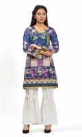 PRINTED SHIRT  ANRAKHA NECK  PETTI FROCK  FULL LENGTH STRAIGHT SLEEVES  PRINTED BACK  DORI WITHBEADS EMBELLISHMENT AT NECK