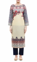 EMBROIDERED KURTA<br> ROUND NECK <br> FULL LENGTH SLEEVES<br> STRAIGHT HEM<br> PRINTED BACK<br> ROUND BUTTONS<br>