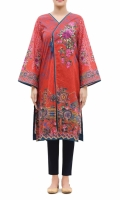 PRINTED FROCK, ROUND NECK SIDE CUT  FULL LENGTH STRAIGHT SLEEVES  PRINTED BACK  BUTTONS