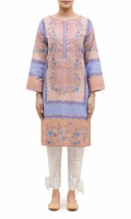 PRINTED KURTA  BOAT NECK  FULL LENGTH STRAIGHT SLEEVES  STRAIGHT HEM  PRINTED BACK BUTTONS