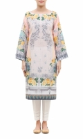 PRINTED KURTA  BOAT NECK  FULL LENGTH STRAIGHT SLEEVES  STRAIGHT HEM  PRINTED BACK