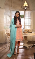 Fabric: SLUB PEACH  DUPATTA: WOVEN SHAWL 2.5 METERS SHIRT FRONT: DYED EMB 1.25 METERS SHIRT BACK: DYED 1.25 METERS SLEEVES: DYED EMB 01-PAIR TROUSER: DYED 2.5 METERS BORDER: EMB 01 PIECE