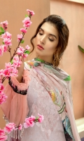 Digital Printed Lawn Shirt With Embroidered Neck Digital Printed With Embroidered Cutwork Cheifly Chiffon Dupatta Dyed Cambric Trouser