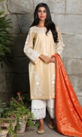 Includes: Shirt, Pants, Dupatta  Shirt: Organza lawn   Pants: Cotton   Dupatta: Jaycarde