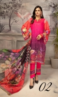 Embroidered Digital  Silk Viscose Printed Crinkle Dupatta Plain Trouser