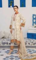 Embroidered Lawn Shirt Crinkle Chiffon Dupatta Plain Trouser