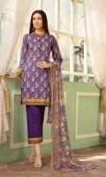 Print Lawn Chikankari Crinkle Dupatta Plain trouser