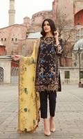 Shirt: Digital Printed Lawn Dupatta: Embroidered Chiffon Sleeves: Digital Printed Lawn Trouser: Dyed Embroidery 1. Embroidered Gala 2. Embroidered Daman for Shirt 3. Embroidered Border for Sleeves 4. Embroidered Dupatta
