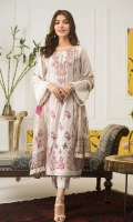 Shirt: Printed Lawn Dupatta: Printed Chiffon Trouser: Dyed Cotton  Embroidery:  1- Front Embroidered Panel