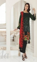 Shirt: Printed Lawn Dupatta: Printed Chiffon Trouser: Dyed Embroidery: 1. Embroidered Daman for Front