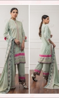 Block Print Shirt ( Embroidered Front ) 3 MTR Block Print Dupatta ( Embroidered Border ) 2.5 MTR Trouser 2.5 MTR