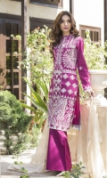 Embroidered Cotton Net Unstitched 3 Piece Suit