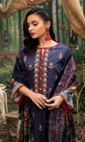 1.25 Mtr Digital Embroidered Shirt Front 1.75 Mtr Digital Shirt Back + Sleeves 2.5 Mtr Palachi Dupatta 2.5 Mtr Trouser
