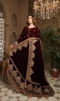 Embroidered Velvet Shawl