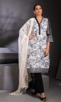 Shirt: - Digital Printed, Embroidered, Chikankar, Schiffili Lawn Dupatta: - Digital Printed and Embroidered Chiffon Trouser: - Dyed