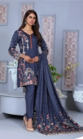 Embroidered Dhanak Shirt Embroidered Winter Shawl Dyed Trouser