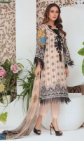 Embroidered Karandi Shirt Printed Chiffon Dupatta Dyed Trouser