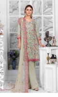 Embroidered Lawn Shirt  Printed Back  Bamber Chiffon Dupata  Simple Trouser