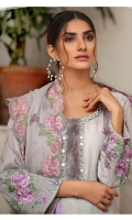 Embroidered Karandi Shirt Bimber Chiffon Embroidered Dupatta Dyed Trouser