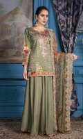 Embroidered Viscose Shirt Digital Print Chiffon Dupatta Dyed Bottom