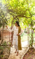 Ready-to-wear Fabric: Lawn Screen Printed Suit Chiffon Screen Printed Dupata Color: White
