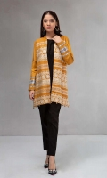 2 piece Jacket and undershirt Front Embroidered khadar jacket Linen undershirt