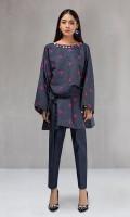 2 piece Shirt and trouser Khaddar shirt with embroidered motifs Khaddar trouser