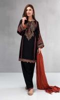 3 Piece Shirt, Shalwar And Shawl Linen Embroidered Shirt Linen Shalwar Linen Shawl