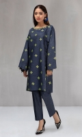 2 piece Shirt and trouser Khaddar shirt with embroidered motifs Khaddar trouser