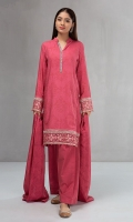 3 piece Shirt, shalwar and shawl Linen printed shirt Embroidered borders Cambric shalwar Linen shawl